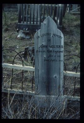 Atlin Cemetery - John Wolters' Grave