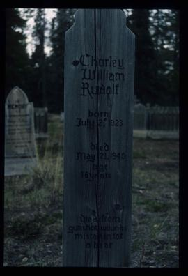 Atlin Cemetery - Charley William Rudolf's Grave
