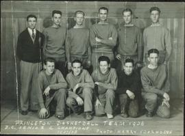 Princeton Basketball Team 1938, B.C. Senior Champions 1937-38