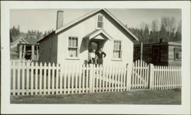 Ray and Gladys Williston in front of their first Princeton home
