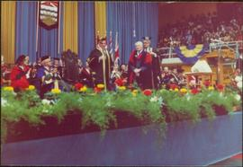 Ray Williston receiving an honourary doctorate from UBC