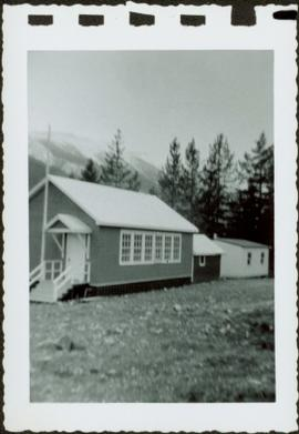 School house in front of mountain 1
