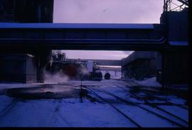 Pulpmill - General - Railway tracks through mill site in winter