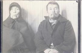 An elderly First Nations woman and a First Nations man