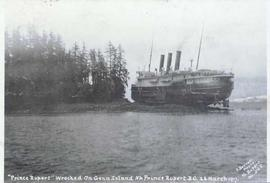 """Prince Rupert"" Wrecked on Genn Island [near] Prince Rupert, B.C. 23 March 1917"