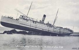 """Princess May"" on the Rocks, as seen at Low Tide"