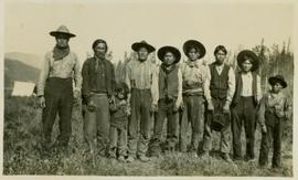 A group of First Nations males