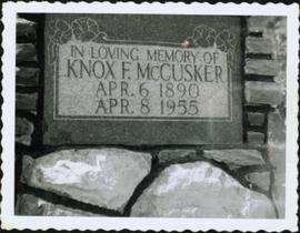 Knox McCusker headstone - Close-up