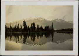 Lake Beauvert and Whistler Mountains