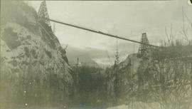 (Third?) Hagwilget Bridge spanning the Bulkley River Canyon between Old and New Hazelton