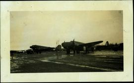 """Lodestar"" Plane on the Apron at Fort Nelson"