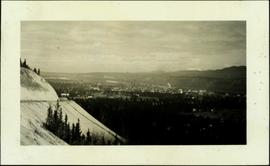 View of Whitehorse and Alaska Highway from Barracks
