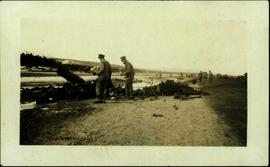 Surveying Wreckage of Plane Crash