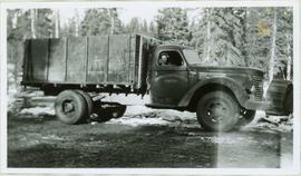 Bert Youngstrom in Campbell Construction Truck