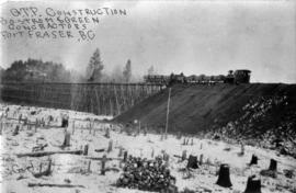 Grand Trunk Pacific Railway trestle constuction by Bostrom & Green Contractors at Fort Fraser...