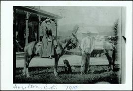 Hugh & Hermina Taylor with Infant Daughters on Horseback