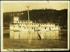 Hermina Taylor by Sternwheeler at South Fort George, B.C.