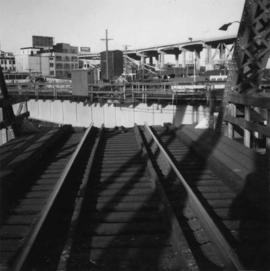 B.C. Electric Railway swing bridge at False Creek