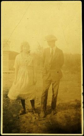 Bob Baxter with Unidentified Young Woman