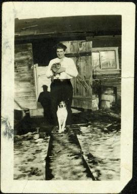 Bob Baxter with Cat and Dog