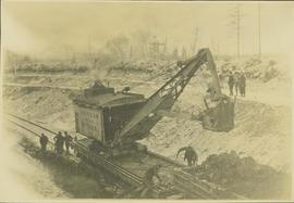 An American Railway Ditcher at work