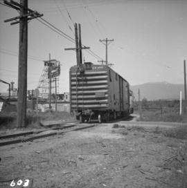 B.C. Electric Railway locomotive and boxcar