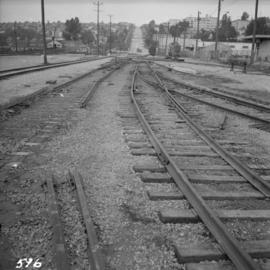 B.C. Electric Railway trackage being removed