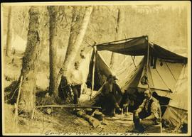Camp in Upper Grand Canyon of the Fraser