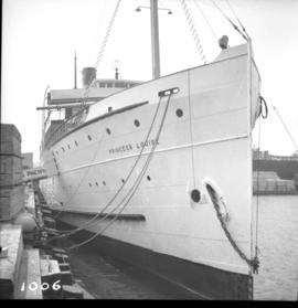 "Ship the ""Princess Louise"" before departure for California"