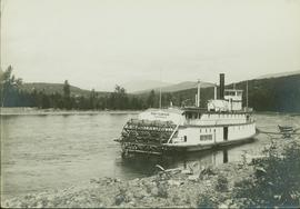 The Port Simpson sternwheeler on the Skeena River at Hazelton, BC