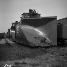 Two C.P.R. snowplows in Coquitlam yards