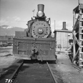 3-truck Shay locomotive #114 in North Vancouver