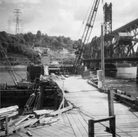 CNR lifting span bridge, Second Narrows, Vancouver Harbour