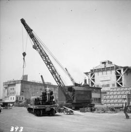 Steam crane at Allied Shipbuilders Ltd.