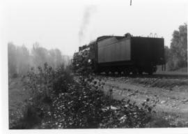 Rear view of Steam Locomotive